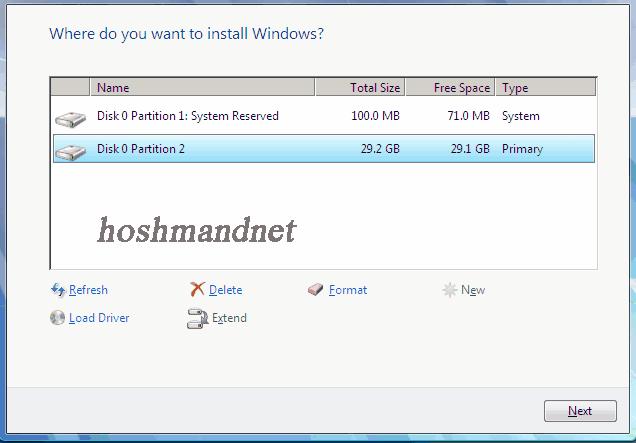 نصب ویندوز10